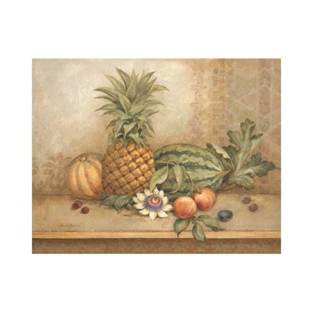 Pineapple and Passion Flower Print Wall Art By Pamela Gladding
