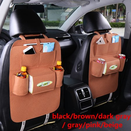 Multifunctional Car Back Seat Storage Bag Backrest Pockets Protector Organizer Auto Accessories (Car Accessories Pocket)