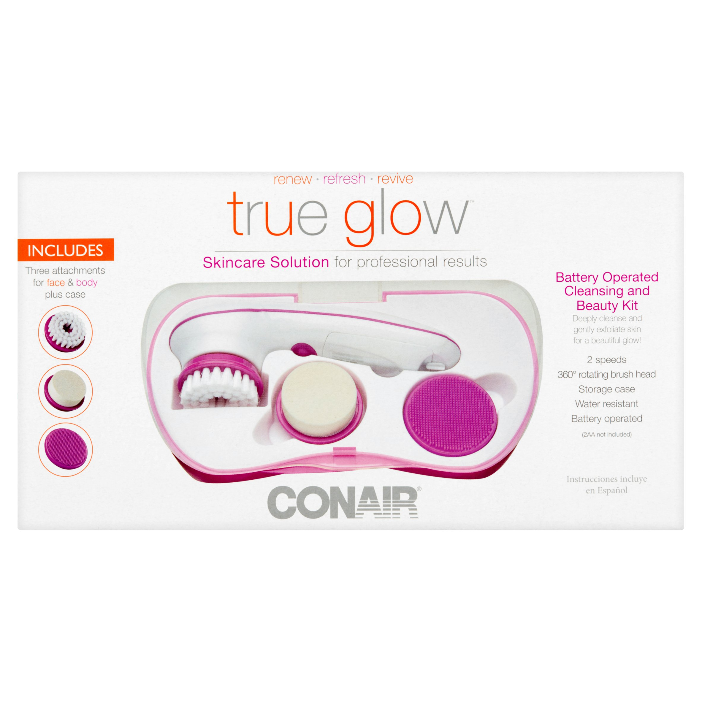 Conair True Glow Battery Operated Cleansing and Beauty Kit