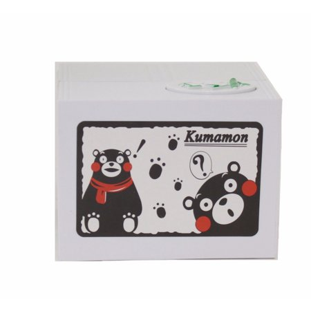 Black Bear Stealing Coin to Bamboo Money Box Bank Home Decor Gift US Seller - Bear Bank