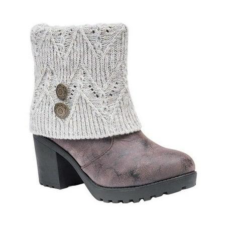 62b0d7dd08ab MUK LUKS - Women s Christa Ankle Bootie - Walmart.com