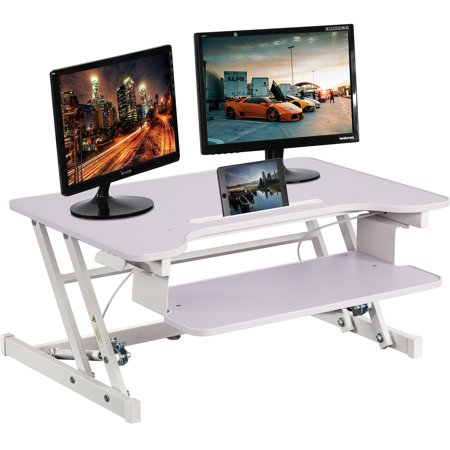Adjustable Height Standing Desk, Stand Up Desk Sit Stand Desk With Keyboard Tray ()