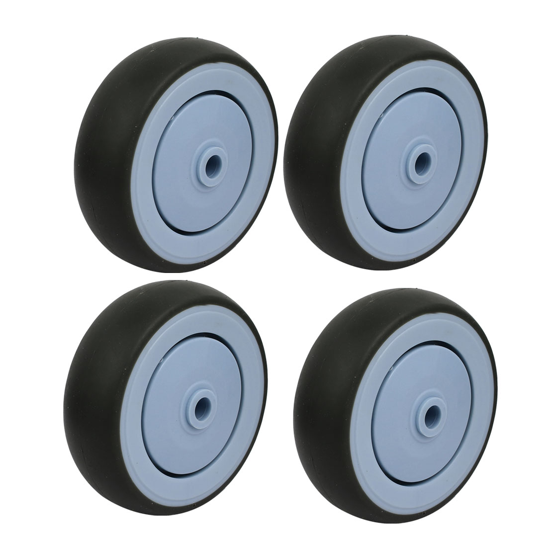 Unique Bargains 5-inch Diameter TPR Wheel Trolley Caster Pulley Roller Gray 4pcs