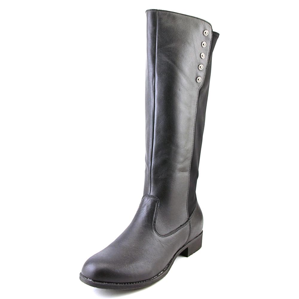 Propet Charlotte Women Round Toe Leather Black Knee High Boot by Propet
