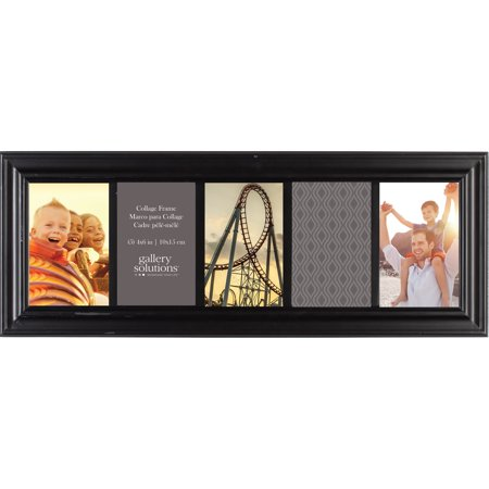 Photo Frame Images (Gallery Solutions Traditional 5 Opening Collage Picture Frame, Displays Five 4x6 Images, Black )