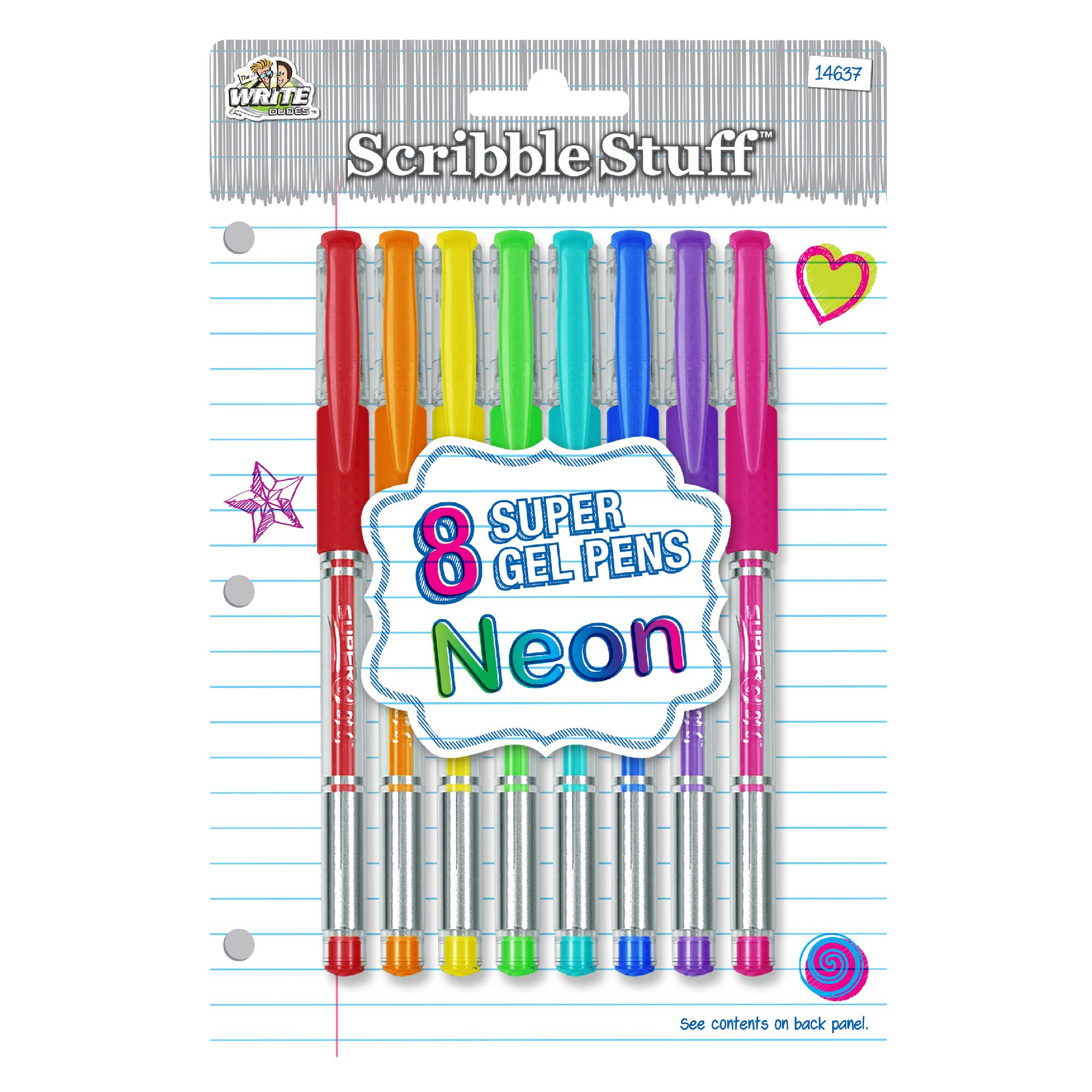 Write Dudes Neon Fashion Gel Ink Pens, 8pk