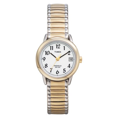 Timex Women's Easy Reader Date 25mm Two-Tone Stainless Steel Expansion Band Watch