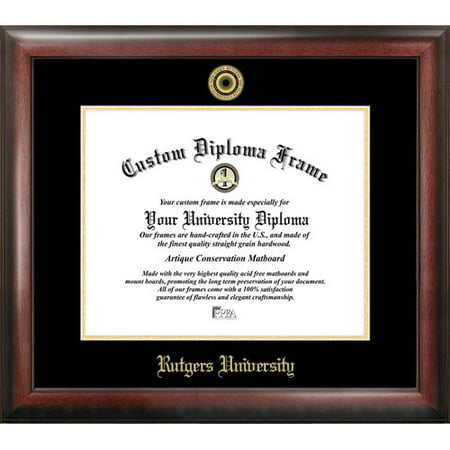 Rutgers University  The State University Of New Jersey  8 5   X 11   Gold Embossed Diploma Frame