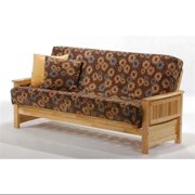 Natural Wood Finish Mission Style Futon Frame (Twin Lounger/Natural)