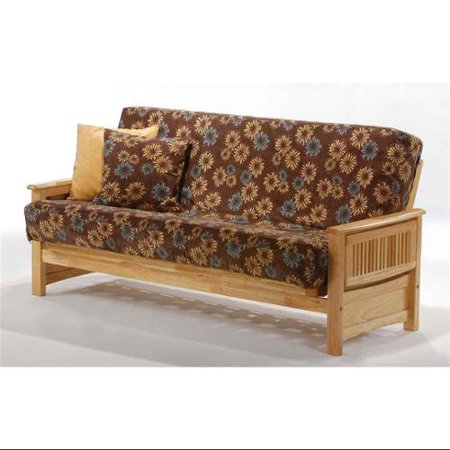 Natural Wood Finish Mission Style Futon Frame Twin Lounger Natural