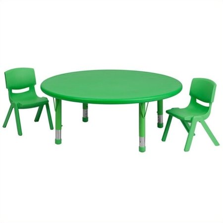 45 Inch Round Adjustable Green - Bowery Hill 3 Piece 45