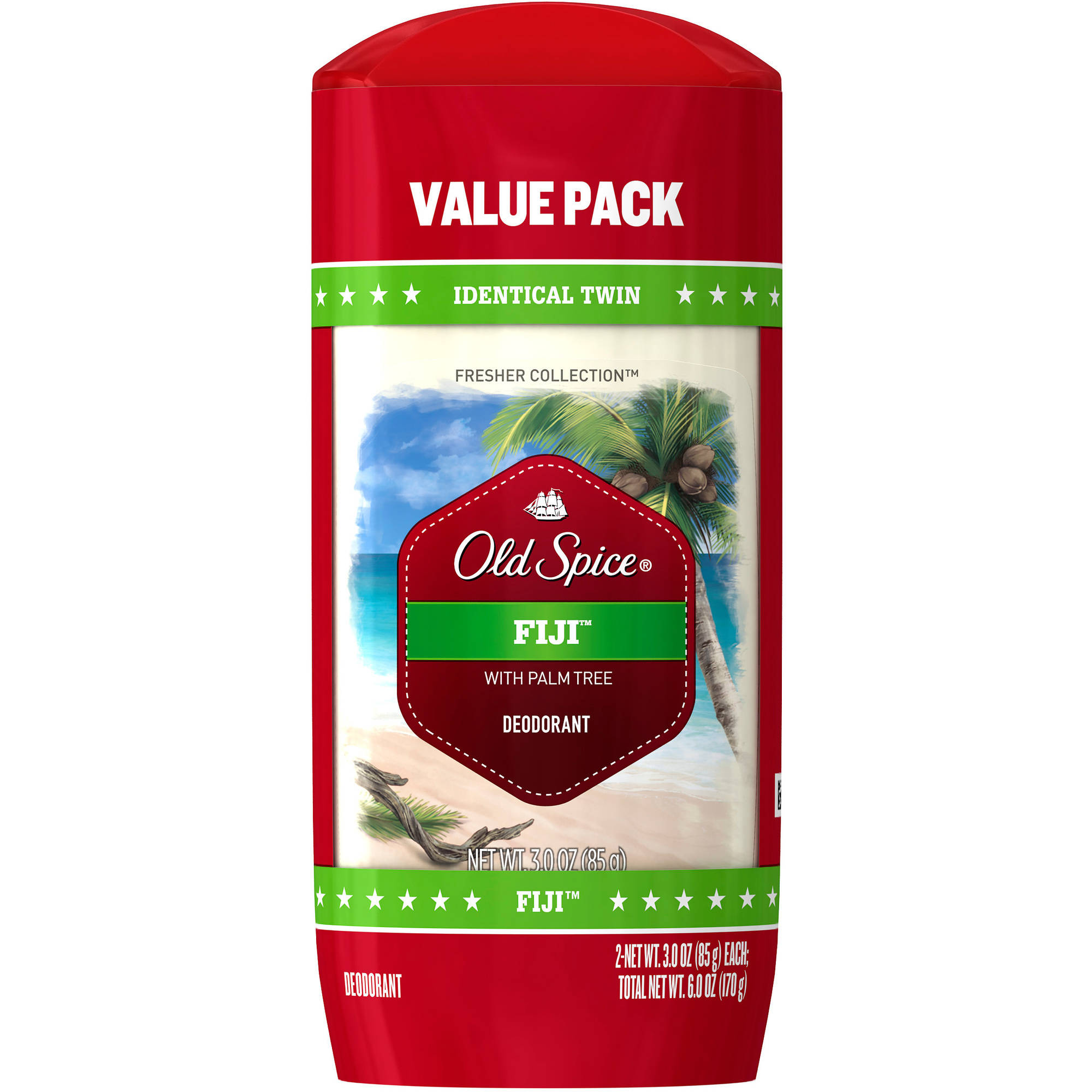 Old Spice Fresh Collection Fiji Deodorant, 2pk