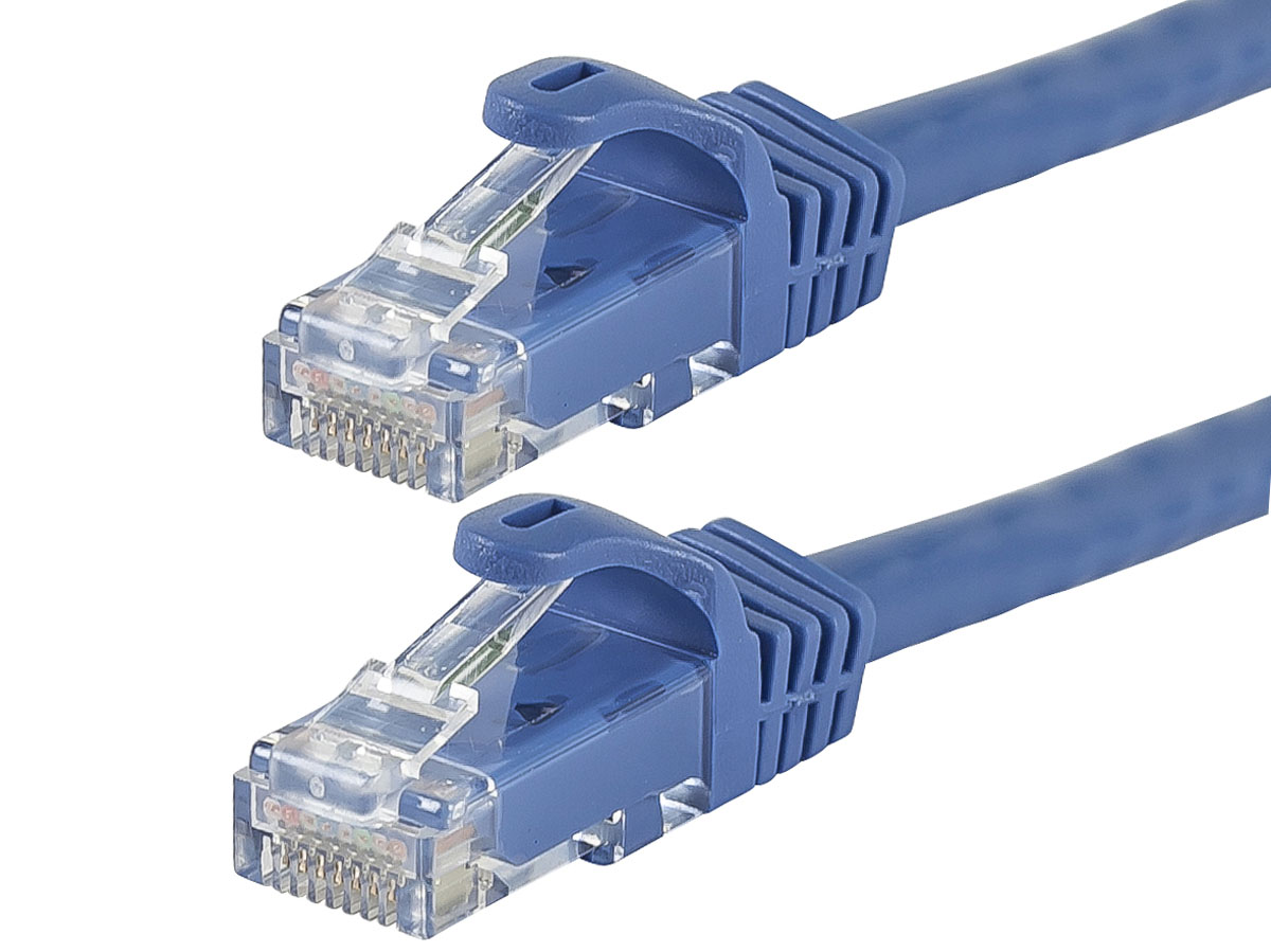 Wholesale UTP Network Cat5e Ethernet Patch Blue Cable Cord Multple Qty 1-50 Feet