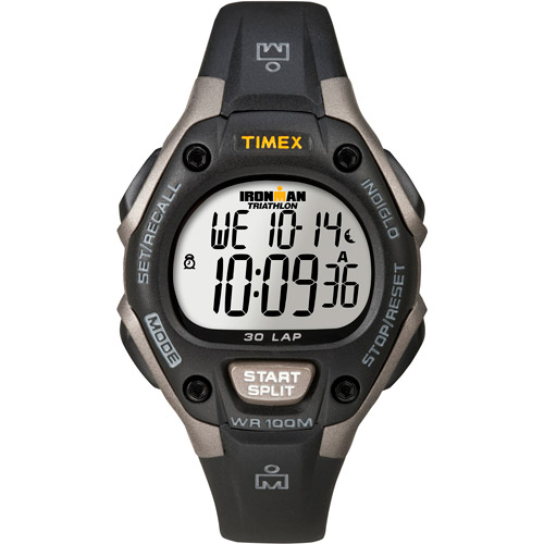 Timex Unisex Ironman Classic 30 Mid-Size Watch, Black Resin Strap by Timex