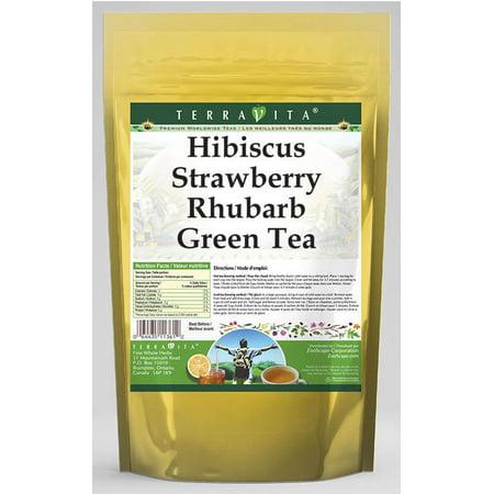 Hibiscus Strawberry Rhubarb Green Tea (25 tea bags, ZIN: