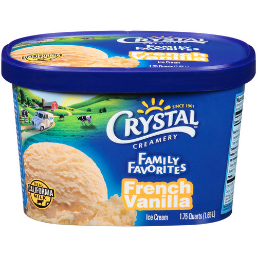 Crystal Creamery Family Favorites French Vanilla Ice Cream, 1.75 qt