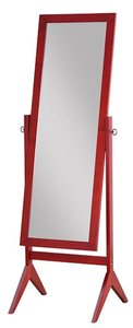 Legacy Decor Cherry Finish Wood Rectangular Cheval Floor Mirror, Free Standing Mirror by