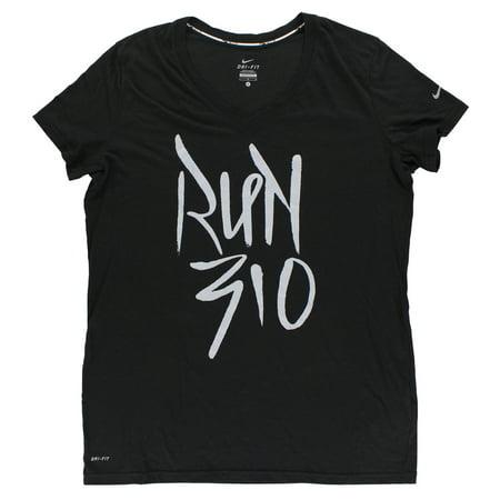 Nike Women's Run 310 Women's Running T Shirt Black L
