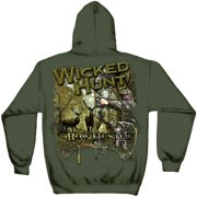 Hunting Hooded Sweat Shirt Wicked Hunt Bow Hunting Military Green