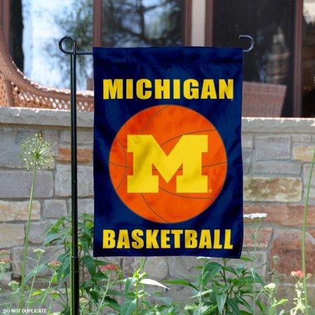"""Michigan Wolverines Basketball 13"""" x 18"""" College Garden Flag"""