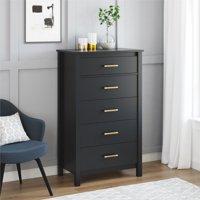 Better Homes and Gardens Wesley 5 Drawer Dresser, Multiple Colors