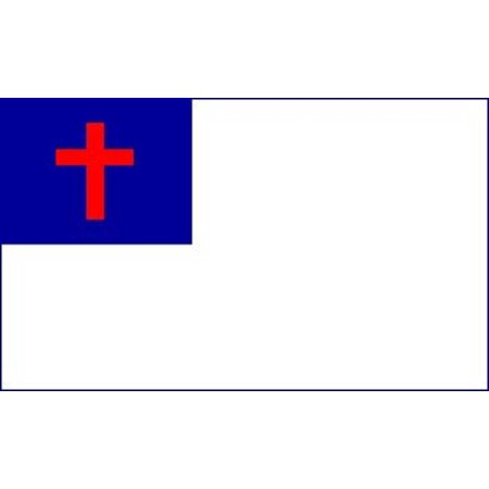 Christian Flag Religious Church Banner Jesus Cross Bible Pennant 3x5 Outdoor - Christ Flag Set