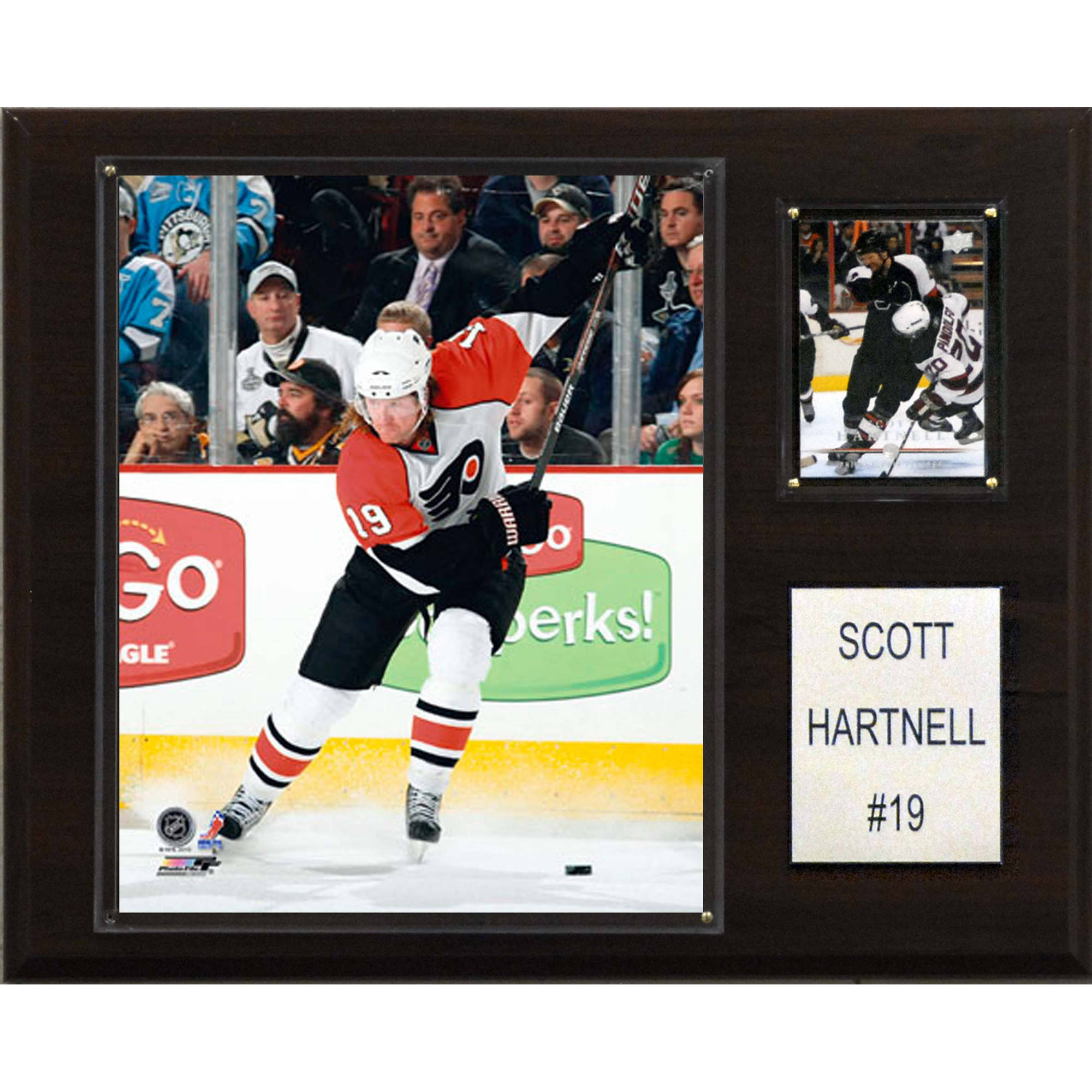 C&I Collectables NHL 12x15 Scott Hartnell Philadelphia Flyers Player Plaque