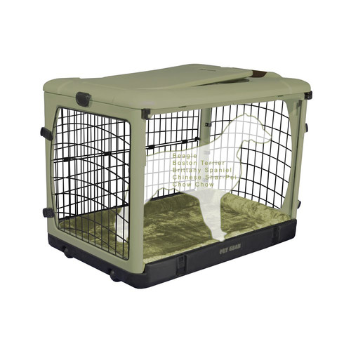 """The Other Door Steel Crate With Plush Pad-Size:36.5""""L x 24.5""""W x 27.5""""H"""