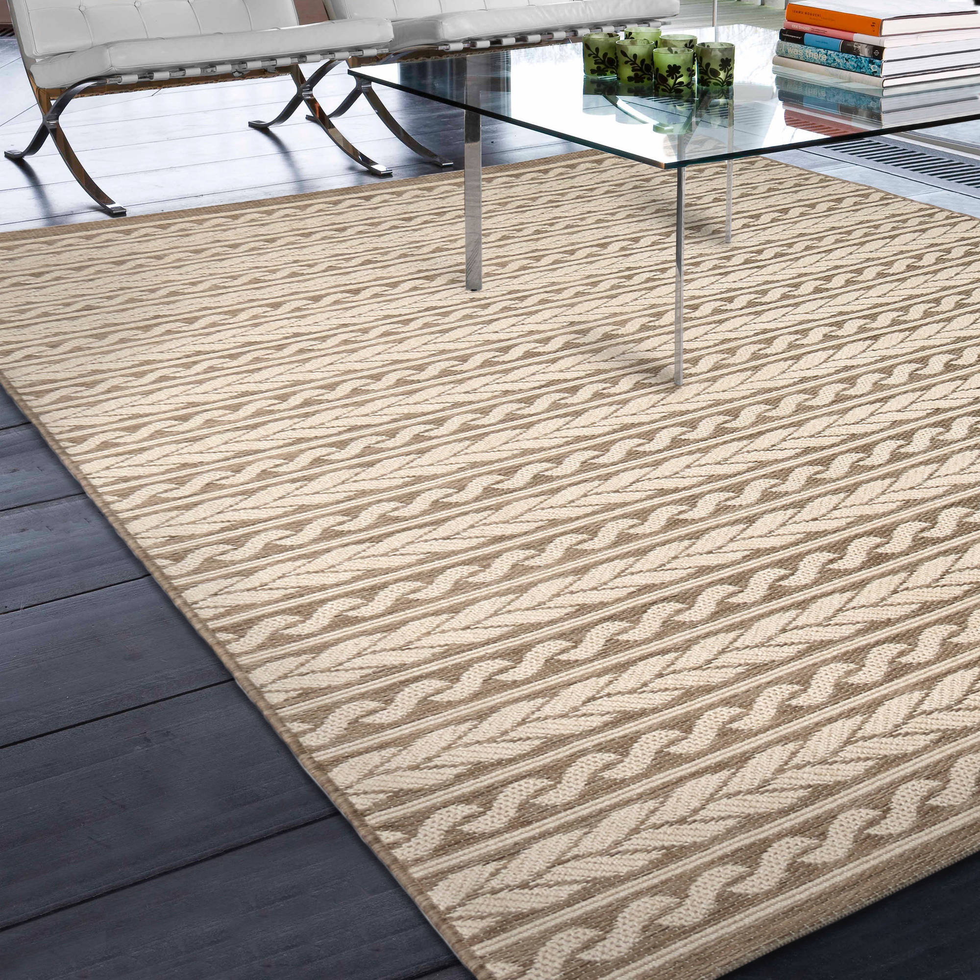 Orian Rugs Indoor Outdoor Knit Cableknots Area Rug