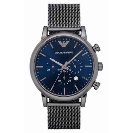 Emporio Armani Men's Chronograph Gunmetal Stainless Steel Classic Dress Watch AR1979