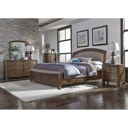 liberty furniture avalon iii 5 piece queen storage bedroom set