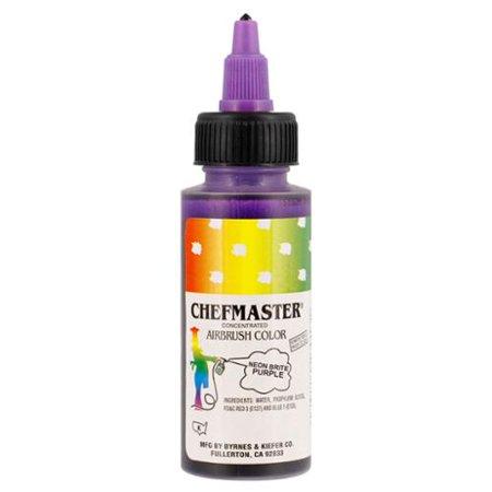 Chefmaster 2-Ounce Neon Brite Purple Airbrush Cake Decorating Food ...
