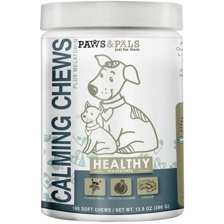 Paws & Pals Calming Soft Pet Chews for Dogs - Aniexty Composure Supplement Support Formula - Stress Reliver for Pets Cats - 180