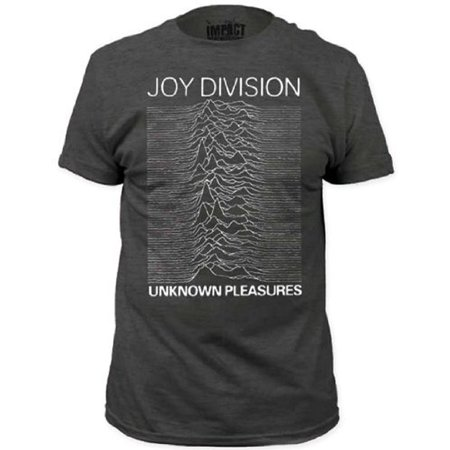 Western Pleasure Show Shirts - Joy Division Unknown Pleasures Adult Heather Charcoal Gray T-Shirt