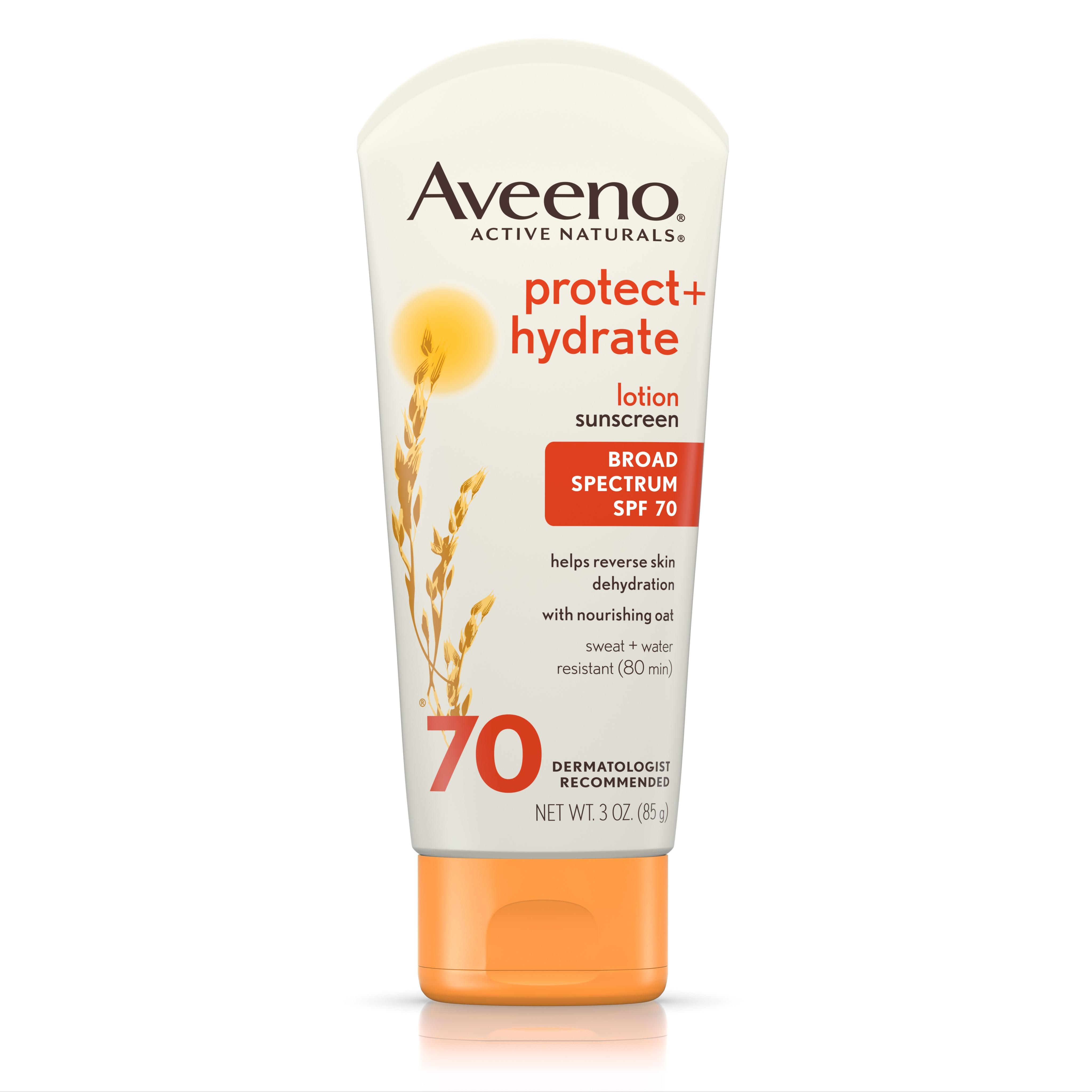 Aveeno Protect + Hydrate Moisturizing Sunscreen Lotion, SPF 70, 3 oz