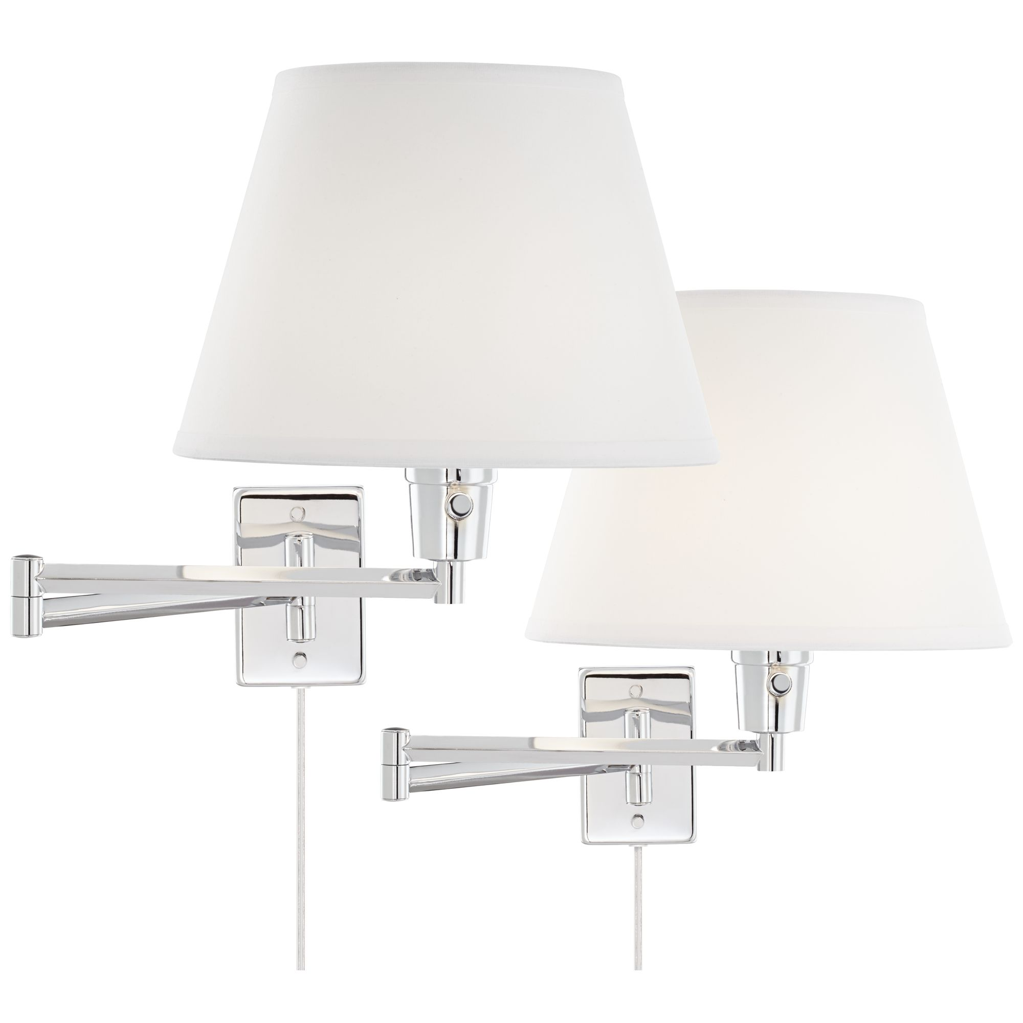 360 Lighting Clement Chrome Swing Arm Wall Lamp Set Of 2 by 360 Lighting