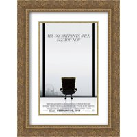 The SpongeBob Movie: Sponge Out of Water 18x24 Double Matted Gold Ornate Framed Movie Poster Art Print
