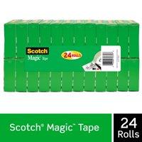 Scotch Magic Tape Value pack, 24 Count, 3/4in. X 1000in. per Roll, Clear