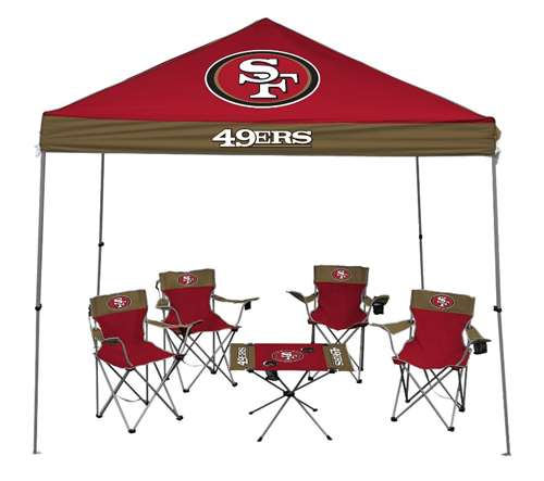 San Francisco 49ers Tailgate Kit - Canopy - 4 Chairs - Table  sc 1 st  Walmart & San Francisco 49ers Tailgate Kit - Canopy - 4 Chairs - Table ...