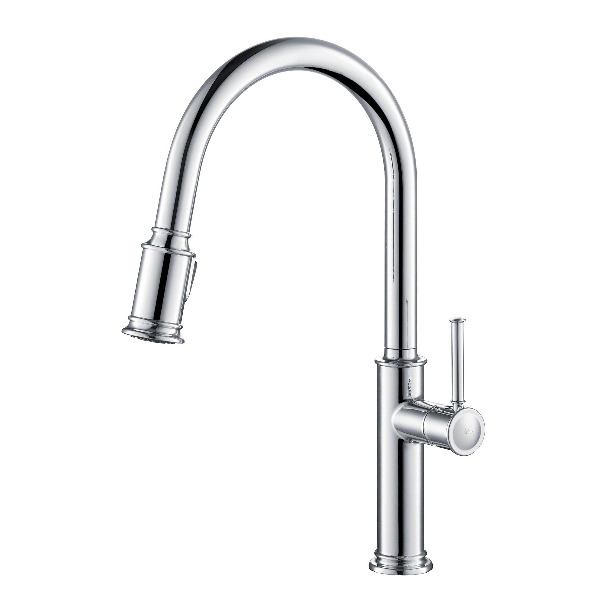 Kraus Sellette Single Pull Down Handle Kitchen Sink Faucet With