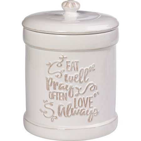 Precious Moments Bountiful Blessings Eat Well Pray Often Love Always Ceramic Kitchen Canister 173413