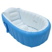 "38"" Inflatable Baby Bathtub Swimming Pool , Foldable Kid Infant Bath Tub Toddler Infant Newborn Foldable Shower Pool Shower Travel Showing Basin Non Slip"