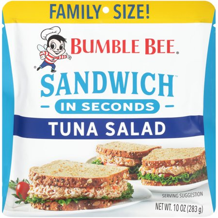 Bumble Bee Sandwich in Seconds Tuna Salad Pouch, Family Size 10 Ounce Pouch, High Protein Tuna Fish
