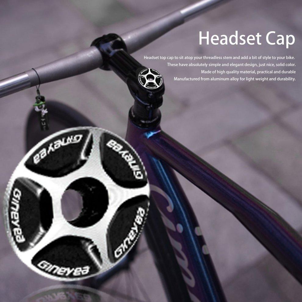 1Pc Bicycle Headset Fork Top Cap Bowl Cover Metal For MTB Road Bike Stem Part