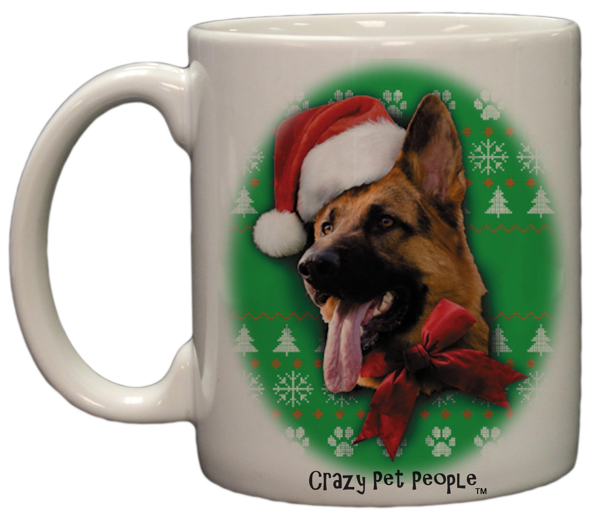 German Shepherd Christmas Sweater.Dog Lovers German Shepherd Ugly Sweater Christmas Design Ceramic Coffee Mug