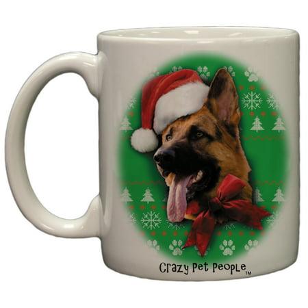 dog lovers german shepherd ugly sweater christmas design ceramic coffee mug