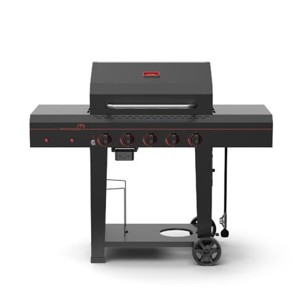 Megamaster Electronic 5 Burner 656 Sq. Inch Gas Grill w/ Built In