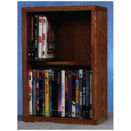 2 Row Dowel Media Storage (Honey Oak)
