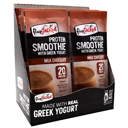 FlapJacked Protein Smoothie Milk Chocolate - 12 - 1.6 oz (46 g) Packets Extreme Smoothie Chocolate