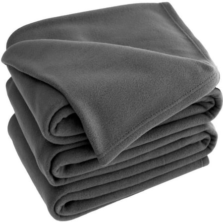 Polar Fleece Cozy Bed Blanket - Hypoallergenic Premium Poly-Fiber Yarns, Thermal, Lightweight Blanket (Full/Queen, (Kids Line Velour Blanket)